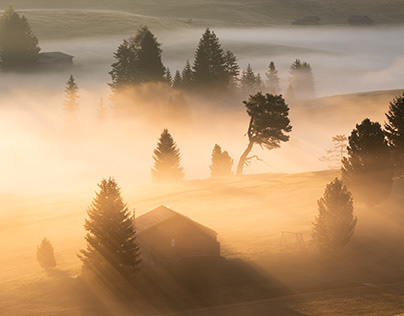 A magical morning in the Dolomites