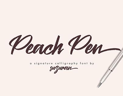 Peach Pen Free Font