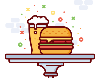 Fast food animation set