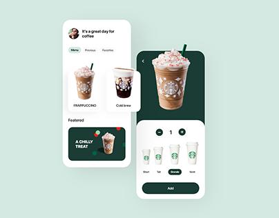 Starbucks app UI concept