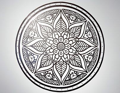 Mandala - pintura em parede
