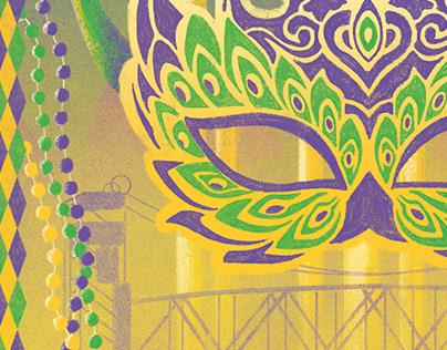 Alexandria Mardi Gras Association 2019 Poster