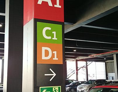 sinalização corporativa T Store Varejo TRAMONTINA RS