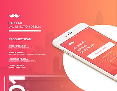 Rappi 4.0 - UX / UI Motion Design
