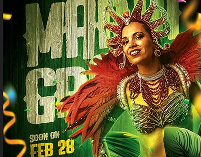 Mardi Gras Carnival - Flyer Template