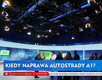 """Grafika ekran.  """"Aktualności"""" TVP Katowice - propozycja"""