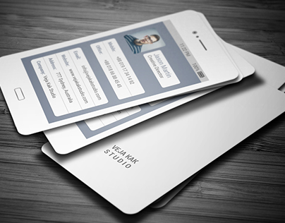 Galaxy Mobile Business Card Design (Freebie)