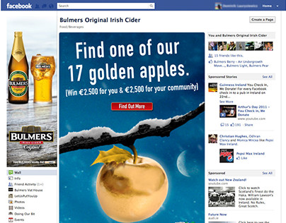 Bulmers: Slider images and Facebook Tab