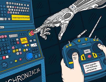 Cyberpunk illustrations for The Calvert journal