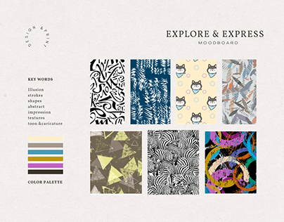 print development for brand linen voyage