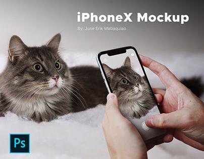 Free Mockup | iPhoneX - PSD Format