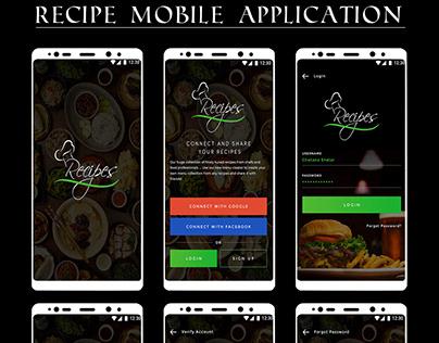 Recipe Mobile Application Template.