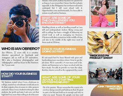 One-Page Magazine Layout