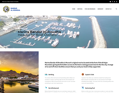 Website Design for Oman's Marina Bandar Al-Rowdha