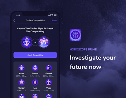 Horoscope mobile app. Investigate your future now