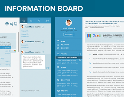 Memphis Information board. Design for boards.