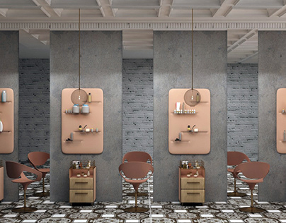 Beauty shop interior for CONSTANTA MED company