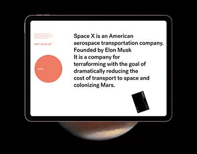 Space X UX/UI Mars Concept Design