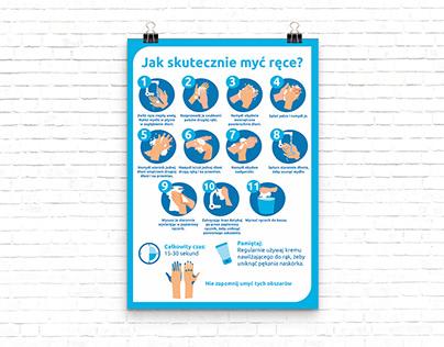 hand washing instruction
