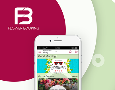 Flower Booking Logo and App Part1