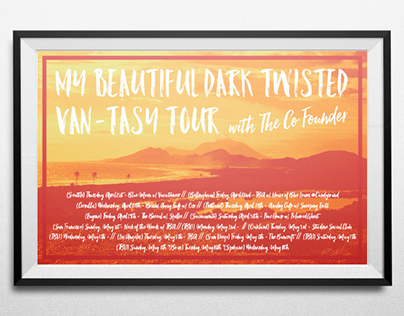 My Beautiful Dark Twisted Van-Tasy Tour Poster