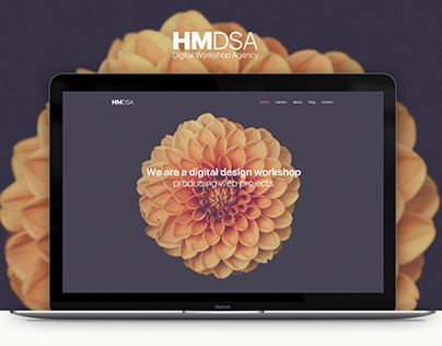 HMDSA Digital Arts Workshop Agency Web UI Design