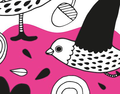 Birds in pink