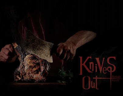 Knives Out grilled meat restaurant branding identity