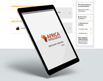 Africa Intelligence - grille tarifaire pdf interactif