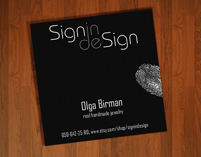 Signin Design, logo and visit card