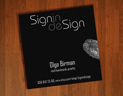 Signin Design, logo and visit card