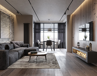 Design project of apartments in Sankt-Petesburg