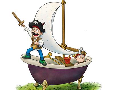 Pirates in the garden