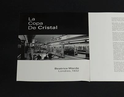 La Copa De Cristal, diseño editorial