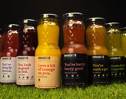 Imagine - Cold Pressed Juice Packaging