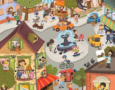 illustration for turkish science kids magazine