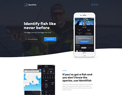 Website Design for Fishing App