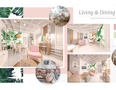 A Stunning Two-Bedroom Interior Design Presentation