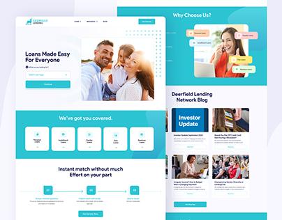 Lending Network, Homepage Design