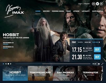 Kosmos IMAX - Cinema UI / UX Design