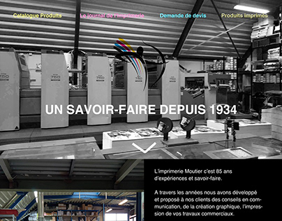 Proposition de design site web Imprimerie MOUTIER
