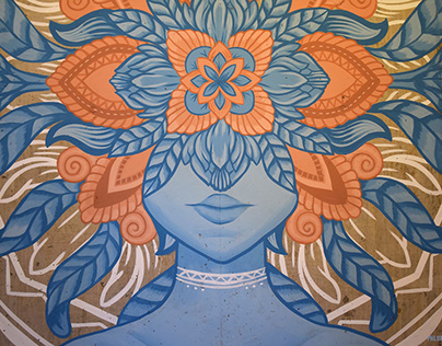 'The Blooming Mind' mural