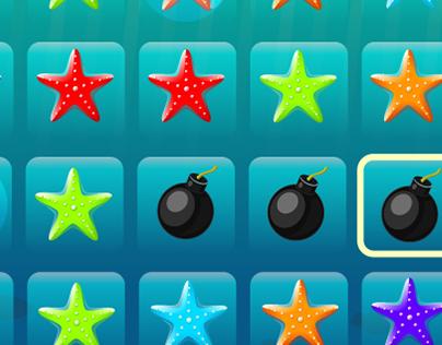 Sea adventure match3 puzzle game