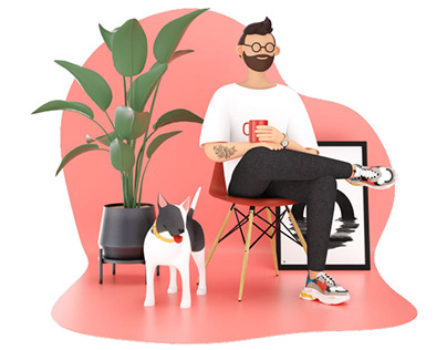 eCommerce Website Character design