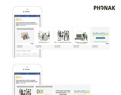 Bannières web & Facebook ads Phonak