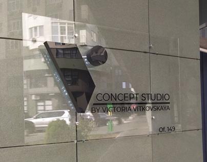 """Дизайн вывески """"V Concept Studio"""""""