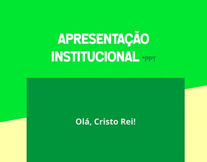 Apresentação Institucional .ppt
