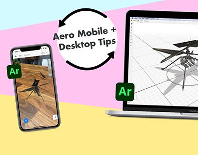 Adobe Aero Mobile & Desktop Workflow Tips