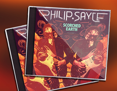 "Philip Sayce ""Scorched Earth: Volume I"" Album Artwork"