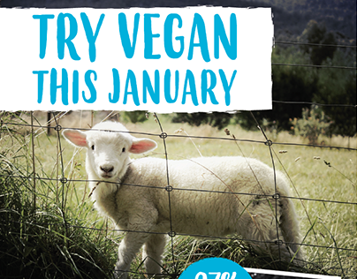 Veganuary A5 leaflet